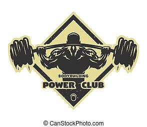 bodybuilder, barbell.