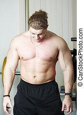 Bodybuilder bending head