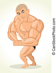 Bodybuilder - Caricature illustration of a bodybuilder