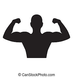 bodybuilder design - bodybuilder graphic design , vector...