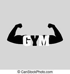 bodybuilder graphic design , vector illustration