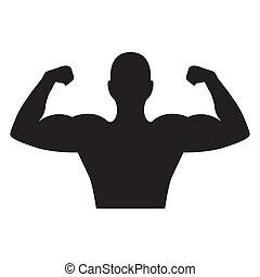bodybuilder design - bodybuilder graphic design , vector...