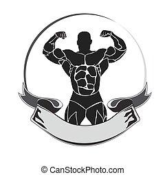 bodybuilder, double biceps, athlete