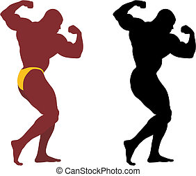 Bodybuilder - Abstract vector illustration of bodybuilder...