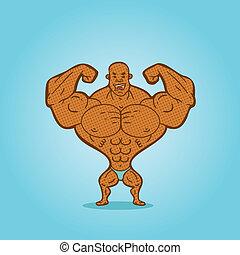 bodybuilder - Illustration bodybuilder posing