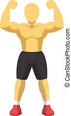 Bodybuilder Fitness Mascot.
