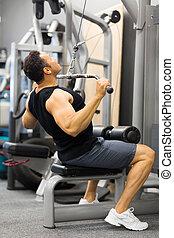 bodybuilder, het uitwerken