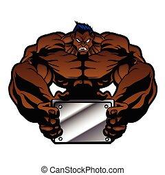 bodybuilder, ilustração