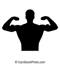 Bodybuilder it is  the black color icon .