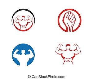 Bodybuilder Logo Template