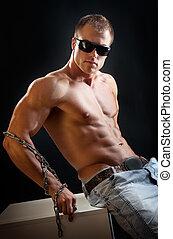 Bodybuilder man