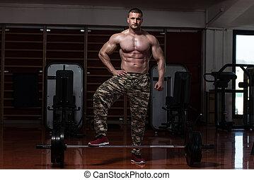 Bodybuilder Prepairing For Dead Lift
