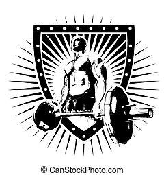 bodybuilder, tarcza