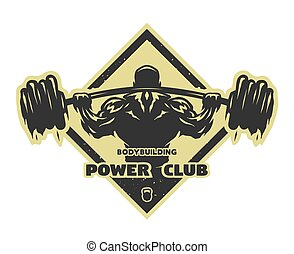 Bodybuilder with a barbell. - Bodybuilder with a barbell ...