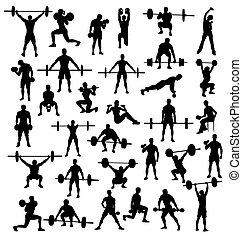 bodybuilders, halterófilos
