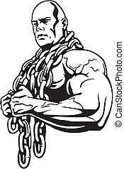 bodybuilding, 以及, powerlifting, -, vector.