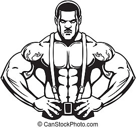 Bodybuilding and Powerlifting - vector.
