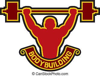 bodybuilding badge - weightlifter