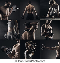 Bodybuilding - Collage of different bodybuilders images