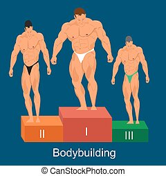 bodybuilding competition concept