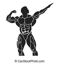bodybuilding concept, muscles