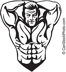 bodybuilding, e, powerlifting, -, vector.