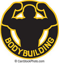 bodybuilding, emblem