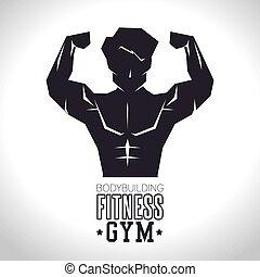 bodybuilding fitness gym concept