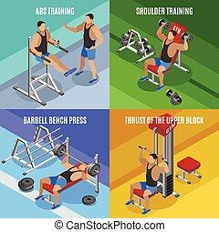 bodybuilding, isometric, conceptontwikkeling