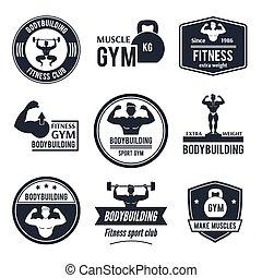 Bodybuilding Label Set - Bodybuilding black label set with...