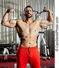 Bodybuilding male model