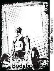bodybuilding poster - illustration of the bodybuilder