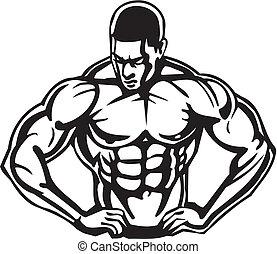 bodybuilding , powerlifting , - , vector.
