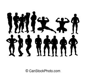 Bodybuilding Sports Silhouette
