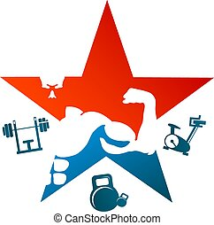 Bodybuilding Symbol Design
