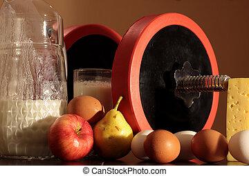 bodybuilding, und, vegetarismus