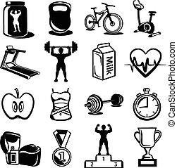 bodybuilding, vettore, idoneità