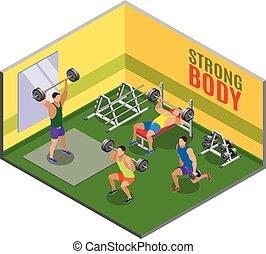 bodybuilding, workout, isometric, samenstelling