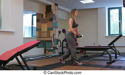 Bodyfitness workout. Exercises with