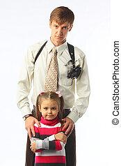 Bodyguard - The bodyguard of the little girl
