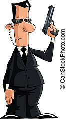 The bodyguard on a white background, vector illustration