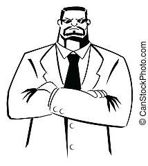bodyguard vector illustration