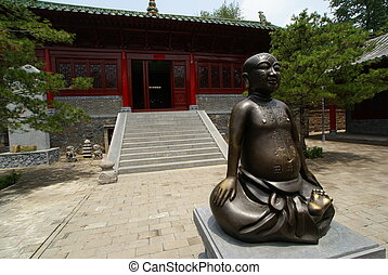 boeddha, chinees, standbeeld