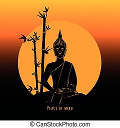 boeddha, meditatie, vrede, verstand, ondergaande zon