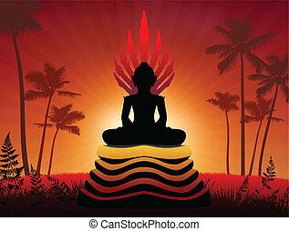 boeddha, standbeeld