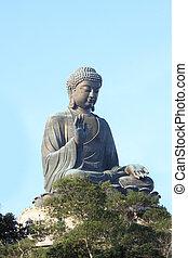 boeddha, standbeeld, tian, china, tan., kong, hong, reus