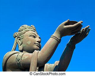 boeddhist, standbeeld