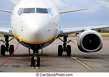 Boeing 737-800 front. - Boeing 737-800 parked on the airport...