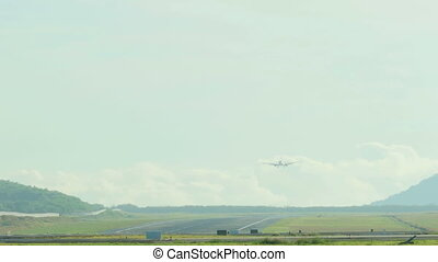 Boeing 737 approaching at Phuket International Airport