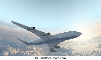 Boeing 747 In The Sky